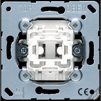 534U Выключатель 1-клавишный кнопочный (1 НО контакт) с N-клеммой Jung