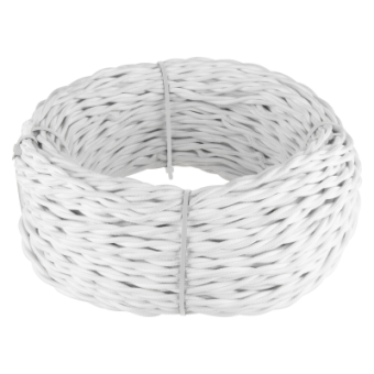 Ретро кабель витой  2х1,5  (белый) Ретро кабель витой  2х1,5  (белый) Favorit Runda Werkel a039925