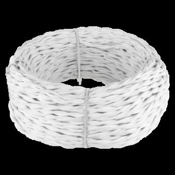 Ретро кабель витой  2х2,5  (белый) Ретро кабель витой  2х2,5  (белый) Favorit Runda Werkel a039927