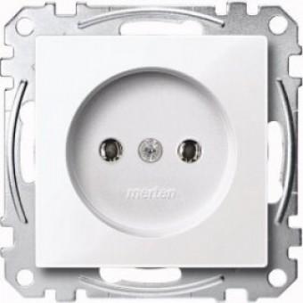 MTN2001-0325 Механизм розетки без заземл.контакта акт-белый. Merten