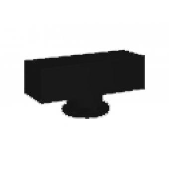 FD02311BK Поворотная ручка квадратного типа , цвет black FEDE