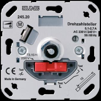 245.20 Регулятор частоты вращения с кнопочным выключателем (ток 0.1 -2.3A) Jung