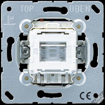 502KOTU Выключатель 1-клавишный возвратно нажимной 2-х полюсной возм контрольной подсветки Jung