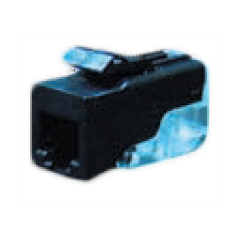 FD-T3-M Розетка телефонная 6-ти контактная для коннектора RJ-11 CAT3, цвет Черный FEDE