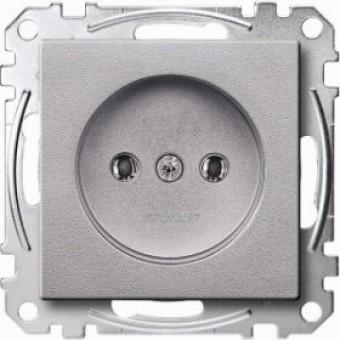 MTN2001-0460 Механизм розетки без заземл.контакта алюминий Merten