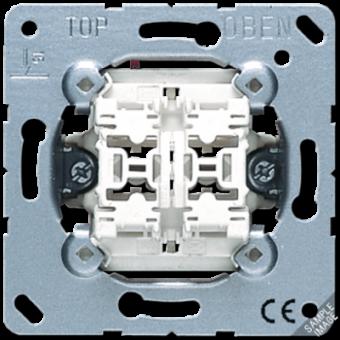 535U5 Выключатель 2-клавишный кнопочный с подсветкой(2 НО контакта) Jung