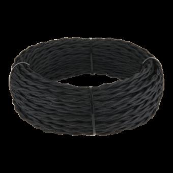 Ретро кабель витой  2х2,5 (черный) Ретро кабель витой  2х2,5 (черный) Favorit Runda Werkel a039931