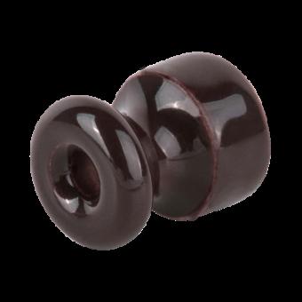 WL18-17-02 Изолятор без винта 50 шт. (коричневый) Ретро Favorit Runda Werkel a046842