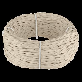 Ретро кабель витой  2х1,5  (песочный) Ретро кабель витой  2х1,5  (песочный) Favorit Runda Werkel a041664