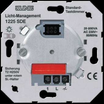 1225SDE Светорегулятор нажимной 20-500Вт/ВА для л/н и обмоточных трансформаторов Jung