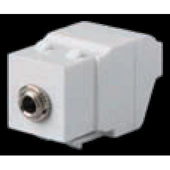 FD-35S-B Розетка аудио для штекера 3,5 мм, цвет Белый FEDE
