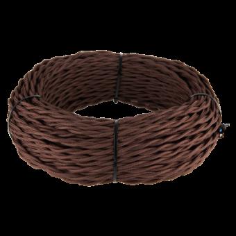 Ретро кабель витой  2х1,5 (коричневый) Ретро кабель витой  2х1,5 (коричневый) Favorit Runda Werkel a039933