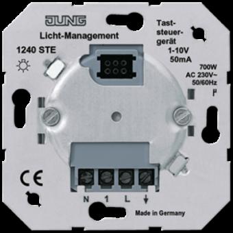 1240STE Светорегулятор нажимной для электронных ПРА (1-10 В) Jung