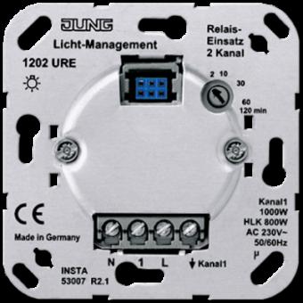 1202URE Электронный выключатель 2-канальный(необходима нейтраль) Jung