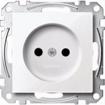 MTN2000-0325 Механизм розетки без заземл.контакта со шторками , активн-белый. Merten