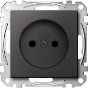 MTN2000-0414 Механизм розетки без заземл.контакта со шторками , антрацит Merten