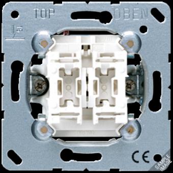 505U5 Выключатель 2-клавишный с подсветкой Jung