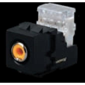 FD-310RSA-YL-M Коннектор RCA, аудио, никелевое напыление, цвет Черный FEDE